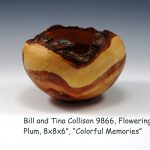 "Bill and Tina Collison 9866, Flowering Plum, 8x8x6"", ""Colorful Memories"""