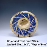 "Bruce and Trish Pratt 9875, Spalted Elm, 11x2"", ""Flags of Blue"""
