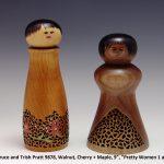 "Bruce and Trish Pratt 9878, Walnut, Cherry + Maple, 9"", ""Pretty Women 1 and 2"""