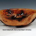 Kevin Felderhoff, Cherry Burl Bowl 14 inches 02.2019