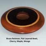 Bruce Reitman, Flat Layered Bowl, Cherry, Maple, Wenge
