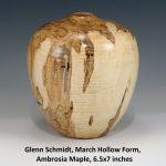 Glenn Schmidt, March Hollow Form, Ambrosia Maple, 6.5x7 inches
