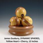 James Duxbury, DYNAMIC SPHERES, Yellow Heart + Cherry, 12 inches