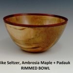 Mike Seltzer, Ambrosia Maple + Padauk, Rimmed Bowl