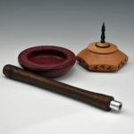 Pat Thobe Purple Heart Bowl - Walnut Tool - Maple 6 sided Bowl