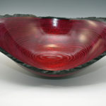 Bill Collison - Ash, Dyed Natural Edge - 23 in. x 16 in. - Big Red Bowl