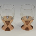 James Duxbury - Walnut and Maple - 3 x 4 in. - 2 Wine Glasses