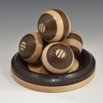 James Duxbury - Wenge and Maple - 4 in - Dynamic Spheres