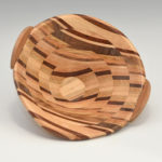 Laurie Bingaman Lackey - Maple Walnut Cherry Oak - 8 in - Swirl Bowl