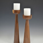 Mike Seltzer - Walnut - Candle Sticks 16 in tall and 14 in tall