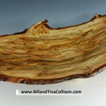 Bill Collison, Wing Bowl, Quilted Ambrosia Maple with burls, 26x14x5 inches, live irregular edge #30710
