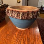"""Bill Lancaster - Live oak bowl with """"Dragonfly"""" color of Real Milk Paint"""