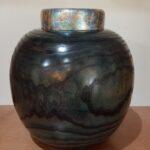 Bruce and Trish Pratt - blue foil jar